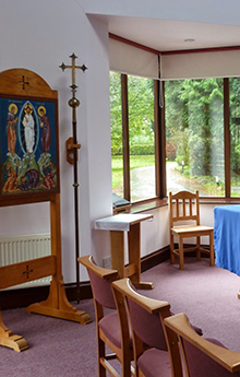 Photo of the chapel in Llangasty Retreat House